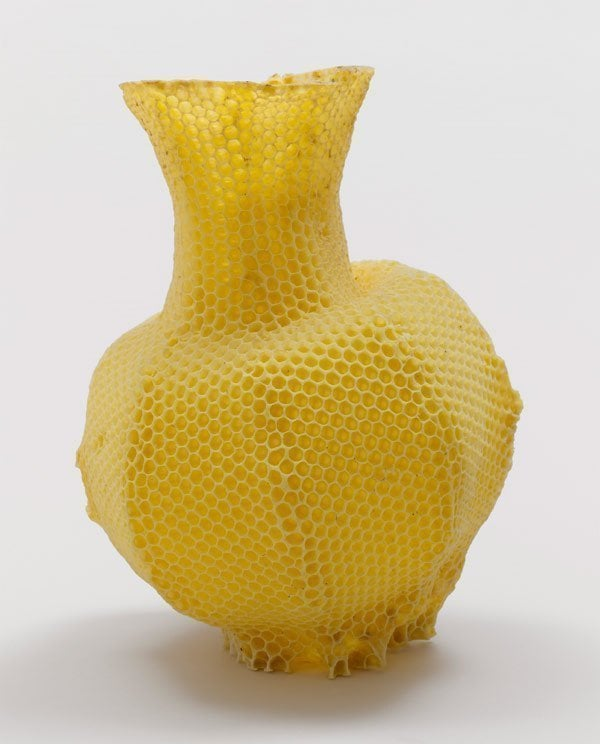Wooden Honeycomb Vase