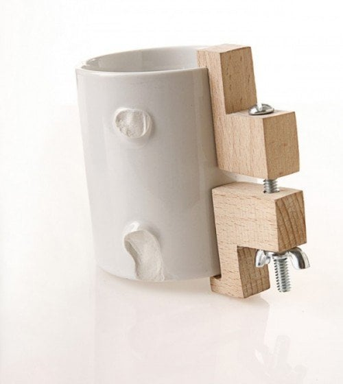 Wood and Ceramic Cup