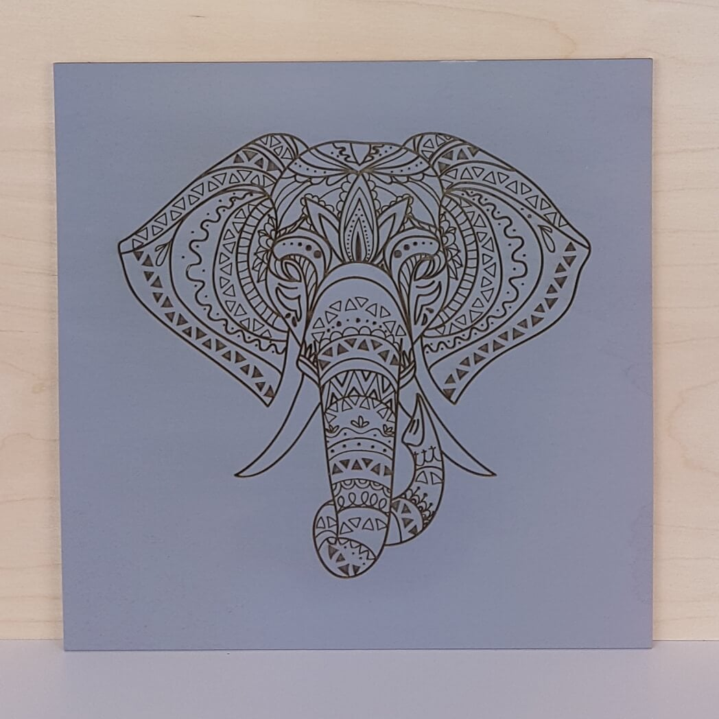 Wall Art - Elephant Head Mandala - TnW
