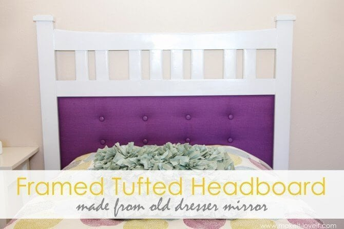 Framed Tufted Headboard by makeit-loveit