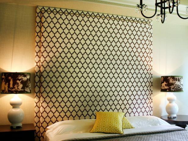 Upholstered Headboard With Nail Head Trim